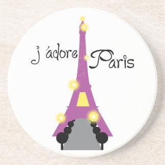 J adore Paris Drink Coaster