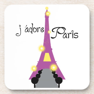 J adore Paris Drink Coasters