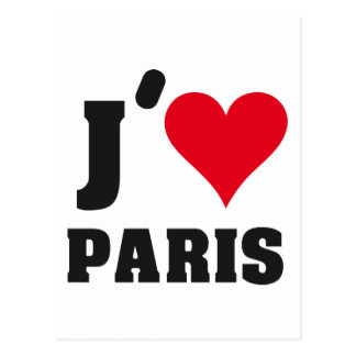 J´AIME PARIS POSTCARD