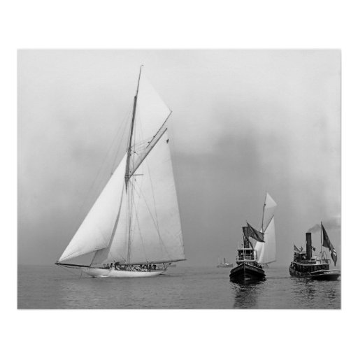 J-Boats and Tugs Print