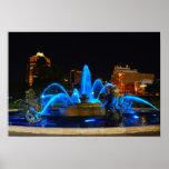 J. C. Nichols Fountain in Blue, Kansas City Poster