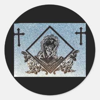 J. Christ 5 ( Monochrome ) Round Sticker