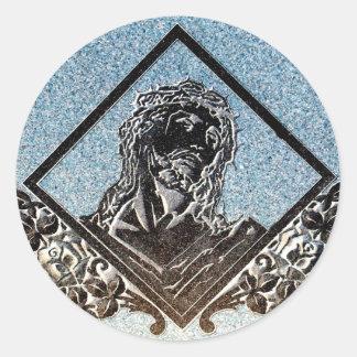 J Christ 5 Monochrome Round Sticker