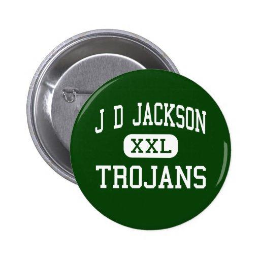 J D Jackson - Trojans - Junior - Cowan Tennessee Pinback Buttons