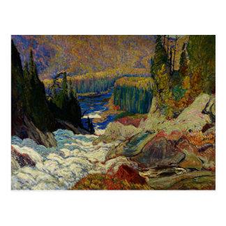 J.E.H. MacDonald - Falls, Montreal River, 1920. Postcard