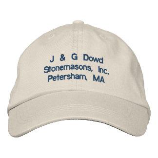 J & G Dowd Stonemasons, Inc.Petersham, MA Embroidered Hat