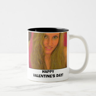 J, HAPPY VALENTINE'S DAY! MUGS