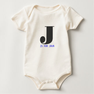 J is for Java Baby Bodysuit