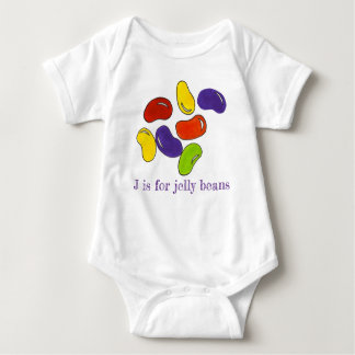 J is for Jelly Beans Rainbow Candy Alphabet Sweets Baby Bodysuit