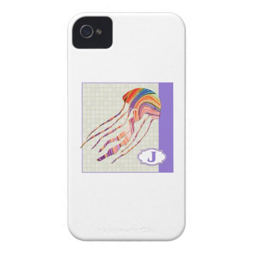 J is for Jellyfish iPhone 4 Case-Mate Case