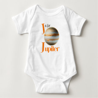 J is for Jupiter Cute Planet & Astronomy Design Baby Bodysuit