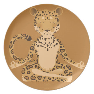 J is for the wild kitten Jaguar Party Plate