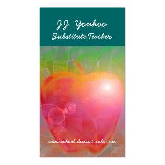 J J Youhoo Substitute Teacher Business Card