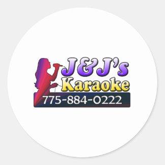 J&J's Karaoke Classic Round Sticker