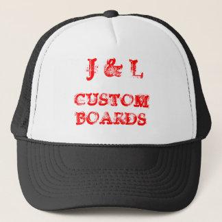 J & L, CUSTOM BOARDS TRUCKER HAT