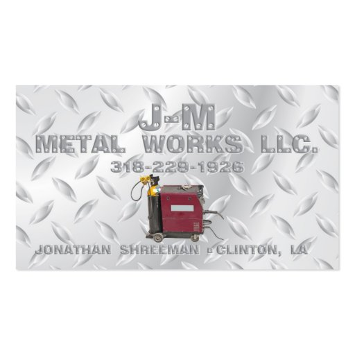 J-M Metal Works Business Cards