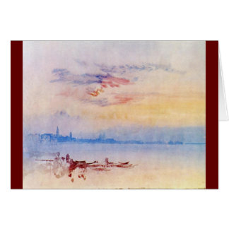 J. M. W. Turner - Venice Looking East 1819 Card