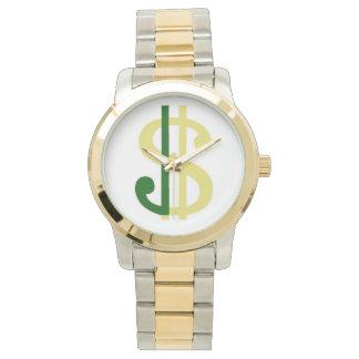 J Money Oversized Two-Tone Bracelet Watch