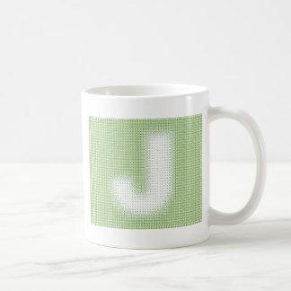 J Monogram Basic White Mug