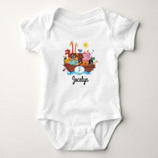 J Monogram Noah's Ark Personalized Baby T-shirt
