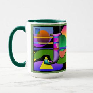J O Monogramed, Initialed Coffee Mug