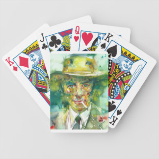 J. robert oppenheimer portrait.1 bicycle playing cards