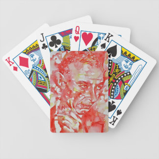 J. robert oppenheimer portrait.2 bicycle playing cards