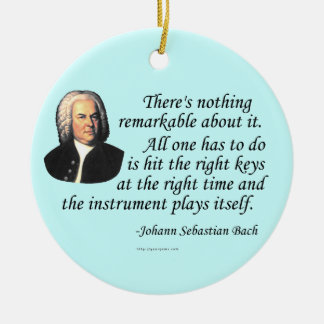 J.S. Bach on Playing Ceramic Ornament