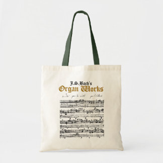 J.S. Bach's Organ Works tote bag