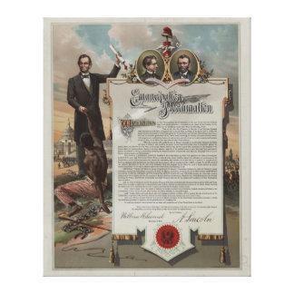 J. S. Smith & Co. copy Emancipation Proclamation Gallery Wrap Canvas