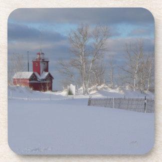 J Spoelstra Big Red Winter Coasters