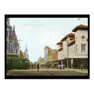J Street Fresno California Vintage Postcard