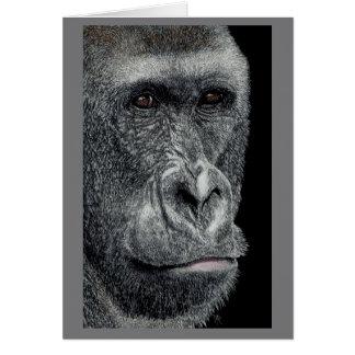 """""""Jabari"""" - Gorilla Face Card"""