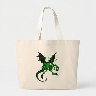 Jabberwocky Green Fill Jumbo Tote Bag