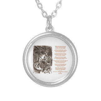 Jabberwocky Poem by Lewis Carroll Silver Plated Necklace