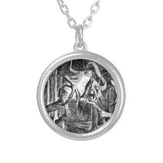 Jabberwocky Silver Plated Necklace