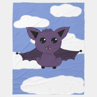 Jac the Bat; A Good day to fly Fleece Blanket