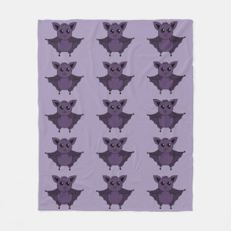 Jac the Bat Flying by night - Fleece Blanket