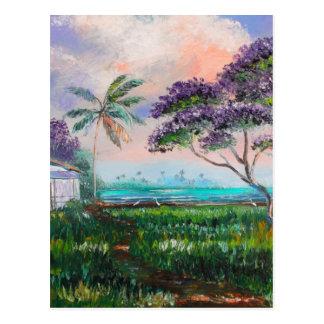 Jacaranda Beach Postcard
