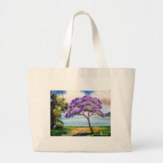 Jacaranda Tree Tropical Art Bags