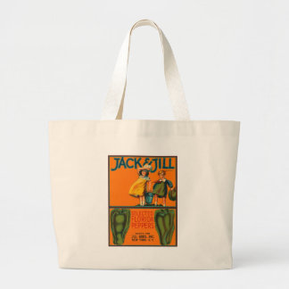 Jack and Jill Peppers Vintage Crate Label Jumbo Tote Bag