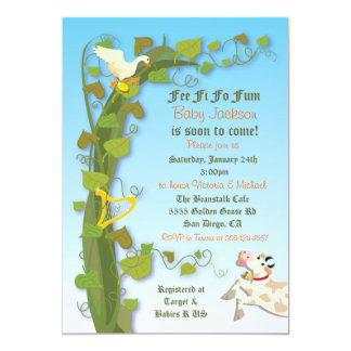 Jack and the Beanstalk Baby Shower Invitations