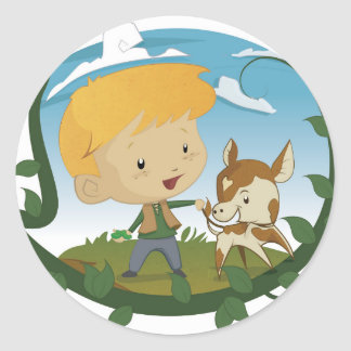 Jack and the Beanstalk Classic Round Sticker