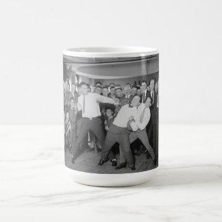 Jack Dempsey Mock Fighting Against Harry Houdini Coffee Mug