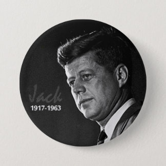 Jack Kennedy 1917-1963 7.5 Cm Round Badge