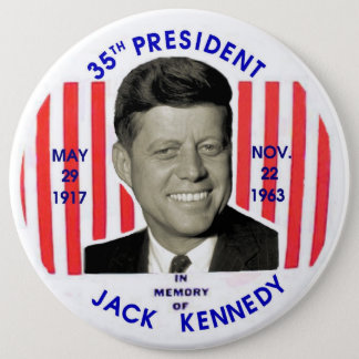 Jack Kennedy memorial pinback 6 Cm Round Badge