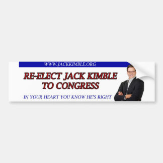 Jack Kimble Bumper Sticker - In Your Heart