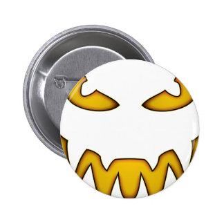 jack-o-lantern pinback button