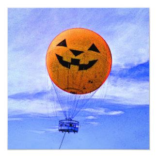 Jack-o'-Lantern Balloon 13 Cm X 13 Cm Square Invitation Card