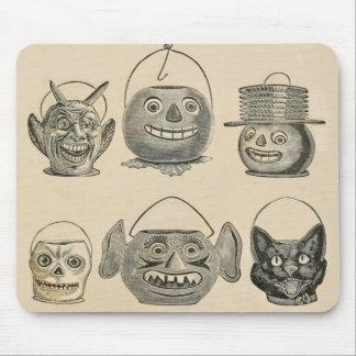 Jack O' Lantern Black Cat Vintage Lanterns Mouse Pad
